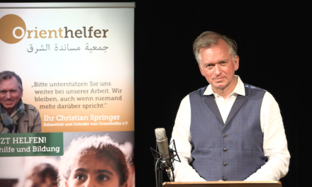 """Spendenaufruf von Christian Springer für """"Orienthelfer e.V."""""""